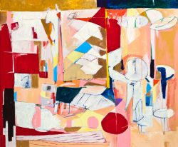 Out Back, 2011, 46.5 x 56 inches, acrylic and graphite on canvas