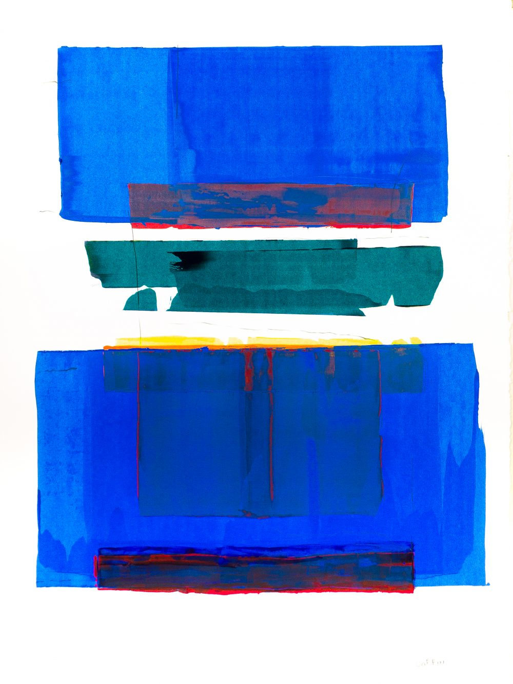 Untitled 1/20 No. 12, acrylic on paper, 30 x 22 inches