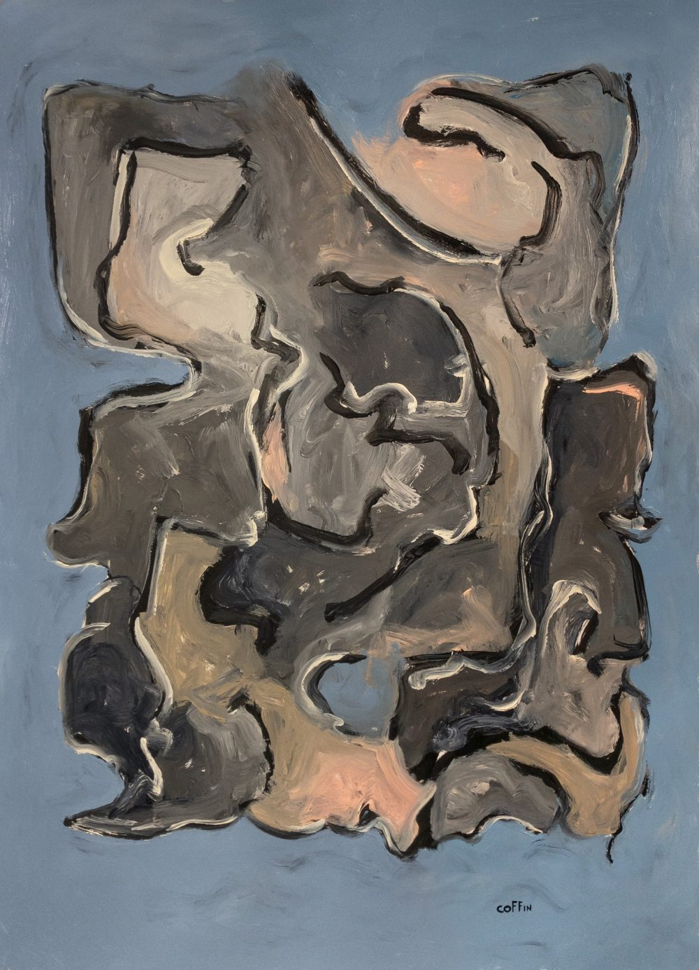 Untitled, 05/14/20 Acrylic on paper, 30 X 22 inches