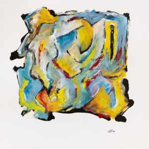 Untitled, 05/18/20 Acrylic on paper, paper size 12 x 12 inches