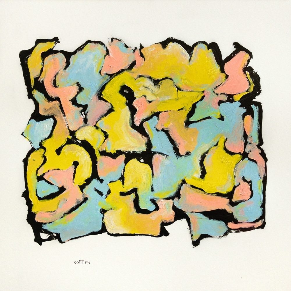 Untitled, 05/21/20 Acrylic on paper, paper size 12 x 12 inches