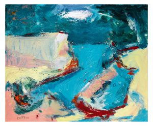 Never been there, 06-04-20 acrylic on paper , 17 x 14 inches