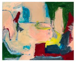 Exterior/Interior, 06-11-20 acrylic on paper, 17 x 14 inches