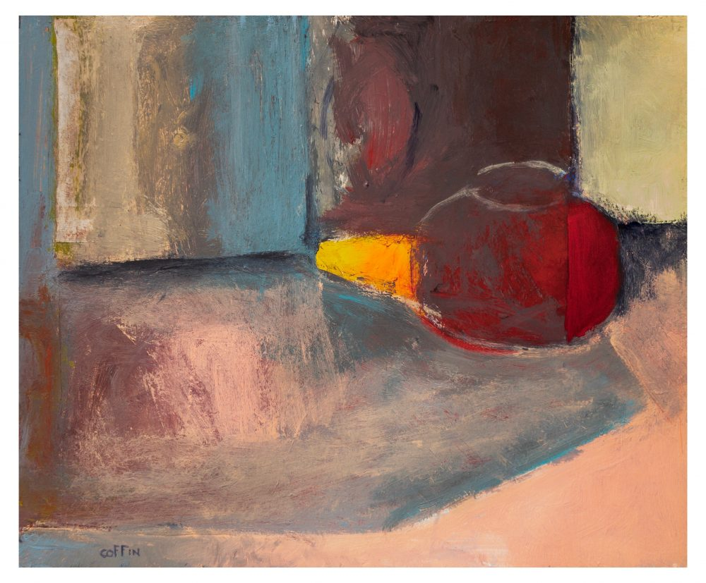 Still Life, 06-19-20 acrylic on paper, 17 x 14 inches