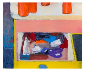 Junk Drawer, 06-25-20 acrylic on paper, 17 x 14 inches