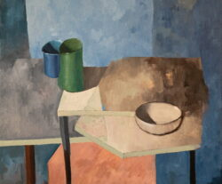 Blue Still Life, acrylic on canvas, 24 x 20 inches