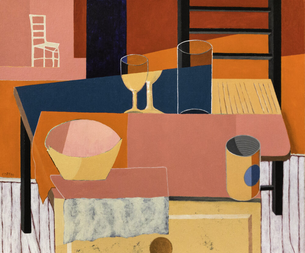 Still Life With Chair, 2021 Acrylic on canvas, 20 x 24 inches